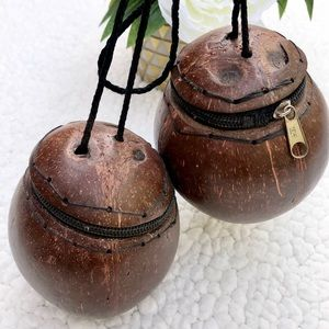 2 GHANAIAN Handcrafted Coconut Crossbody Purse Bag